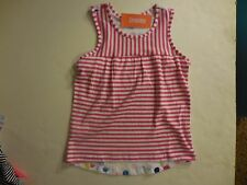 Gymboree Girls Mix N Match Hot Pink Striped/Polka Dot Tank Tee Shirt Size M(7-8)