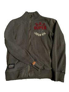 mens superdry jacket xl Grey. Zip Up Front Good Used Condition.
