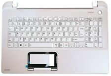 New Toshiba L50-B L50D-B Palmrest Cover UK QWERTY Keyboard White A000295780