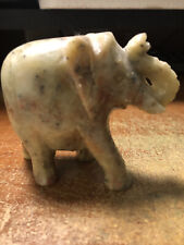 4 Hand Carved stone Elephant Figurines from India  Vintage?