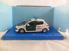Cararama Peugeot 206 Spanish Civil Guardia Car  Scale 1:43
