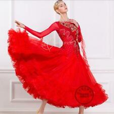custom made ballroom dance wear red for women competition B-16178