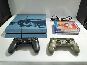 Playststion 4 PS4 500GB Uncharted Limited Edition Bundle 3 Games 2 Controllers