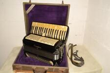 Vtg EXCELSIOR ACCORDION Parts/Repair w/SHURE BROTHERS BULLET 99A47 Pick-Up MIC