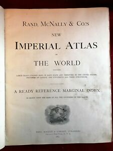 IMPERIAL ATLAS OF THE WORLD RAND MCNALLY NEW OFFICIAL CENSUS 1901