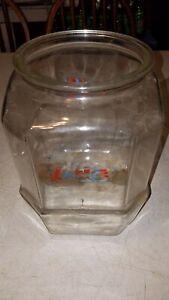 """Vintage LANCE Cracker/Cookie JAR ( No Lid)- 8 sided  10 1/2"""""""