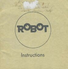 Robot 1 Instruction Manual in English