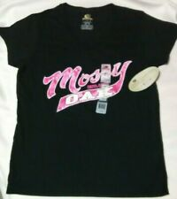 Mossy Oak T-shirt, Size Large, Women's Black/Pink  V-neck Camouflage New w/ Tag