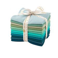 Kaufman Kona Cotton Solids MIDNIGHT OASIS Fat Quarters 12 Fabric FQ-923-12