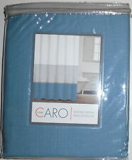 NWT CARO HOME BLUE, WHITE & SILVER STRIPED RIDEAU DE DOUCHE SHOWER CURTAIN 72x72