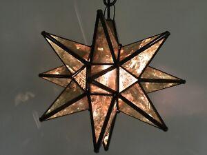 "Moravian Star Pendant Light, 19"", 15"" or 10"", Choose your Glass & Trim Options!!"