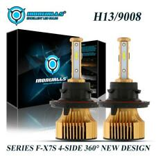 IRONWALLS 4sides H13 9008 Hi-Lo 2500W LED Headlight Super Bright Bulb Kit 6000K