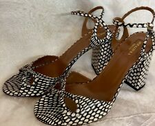 Aquazzura Shoe Black And White Snake Print  Size 40 New