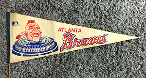 Atlanta Braves - Rare Vintage 60's or Early 1970's Large Pennant