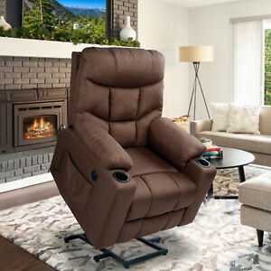 JolyDale Electric Lift Leather Chair, Heated and massaged Home Adjustable Chair,