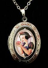 Snow White Apple Disney Silver Children's Locket and Necklace Cute Kitsch