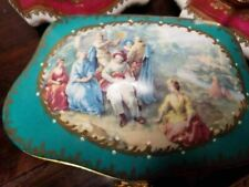 Teal Chest - Serenade Woman JEWELRY Limoges BOX  5 of 250 - EXTREMELY RA