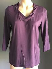 Lovely NONI B Purple 3/4 Sleeve Stretchy Top Size S (8)