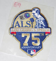 LOU GEHRIG NY ALS SPEECH 75th ANNIVERSARY GAME USED DARNELL COLES JERSEY PATCH