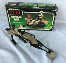 VINTAGE 80'S KENNER ROTJ SPEEDER BIKE W/ ORIG. BOX