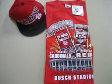 """St. Louis Cardinals - Rare collectible Tee Shirt with Official """"New Era"""" Hat"""