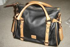 """DOONEY & BOURKE """"BLACK/TAN"""" SATCHEL-NEW WITHOUT TAGS! NO EXTRA CROSS BODY STRAP!"""