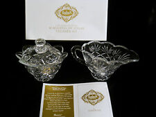 Shannon Crystal Scolloped Sugar & Creamer by Godinger NIB
