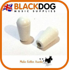 Guitar toggle Switch Tip / Cap in white pickup rhythm treble 3.5mm