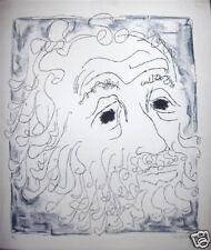 Bob Hamilton -  S/N Lithograph - Bearded Man