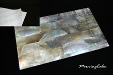 Black Mother-of-Pearl Adhesive Veneer Sheet (MOP Shell Overlay Luthier)