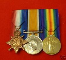 World War I 1914 - 1915 Star British War Victory Trio