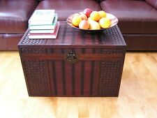 Hawaii Large Wood Storage Trunk Wooden Hope Chest