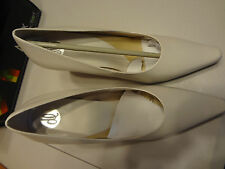 """STUNNING Donna Lawrence Roulette Ivory 9.5M 9.5 M 3.5"""" Heel New in Box L@@K"""