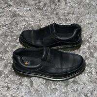 Dr. Martens pebbled leather black slip on loafers comfort shoes mens Size 10