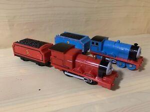 Thomas The Tank & Friends TALKING JAMES &EDWARD Trains  Trackmaster MOTORIZED