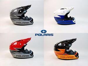 POLARIS DEMON 2.0 HELMET RED BLUE ORANGE BLACK SNOWMOBILE ATV STREET SNELL DOT