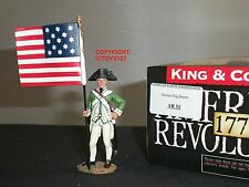 KING AND COUNTRY AR51 AMERICAN REVOLUTION US MARINE FLAGBEARER TOY SOLDIER