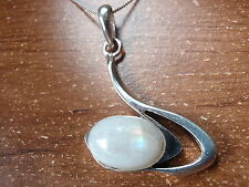 Blue Moonstone Curves Pendant 925 Sterling Silver Corona Sun Jewelry 619wa