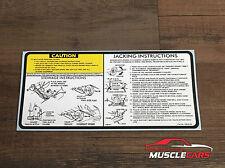 1981-87 Regal / Cutlass Jacking Instructions Trunk Decal Sticker 14034743