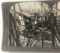 WWI French 155 M-M Gun Keystone Stereoview