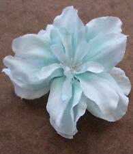 "2 1/2"" Baby Blue Apple Blossom Silk Flower Hair Clip,Wedding,Prom,Dance"