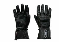 LADIES MOTORBIKE MOTORCYCLE SCOOTER PROTECTIVE BLACK PINK LEATHER RACING GLOVES