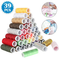 Polyester Sewing Thread Spools Set For Sewing Machine Line 39 Colors 200 Yards