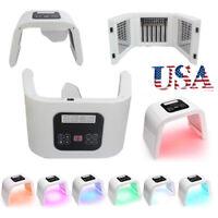 PDT 7 LED Light Photodynamic Skin Care Rejuvenation Photon Facial Body Therapy