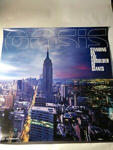 """OASIS """" Standing On The Shoulder Of Giants """" Original Promo Poster Double Sided"""