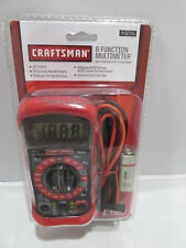 Craftsman Multimeter, Digital, with 8 Functions and 20 Ranges 34-82141