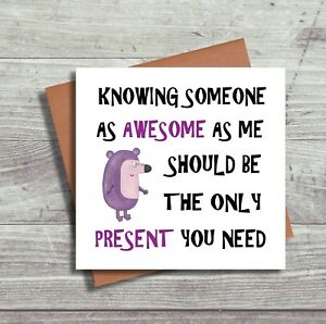 Funny Birthday Card For Brother For Sister Humour Greeting Card