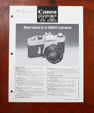 CANON DEALER NOTEBOOK PAGES FOR TX/103972