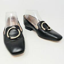 Massimo Dutti Black Pilgrim Shoes Flats Womens EU 36 US 6 New