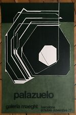 Palazuelo affiche lithographie 1977 art abstrait abstraction Espagne Barcelone